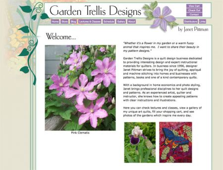 GloDerWorks website design in Iowa, USA, Garden Trellis Designs ...