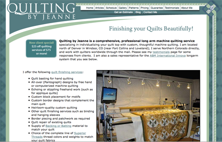 Quilting by Jeanne